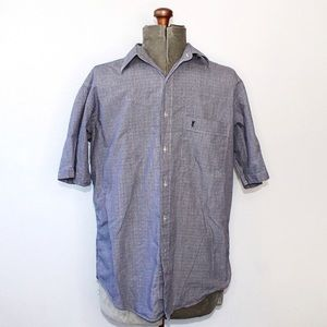 YSL Mens Collared Short Sleeve Button Up Down Top